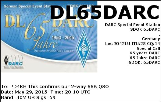 eQSL card from DL65DARC